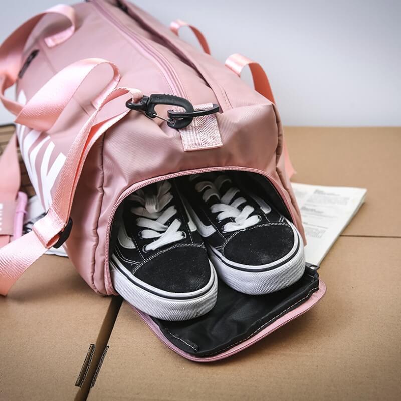客製韓系運動附鞋袋健身包